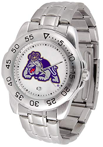 SunTime James Madison Dukes Sport Steel Band Men's Watch