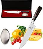 IDEELAND Professional 8 Inch Chef Knife with Odor Remover - High Carbon Stainless Steel Chef's Kitchen Knife - Handcrafted Handle - Sharp Japanese Chefs Knives to Slice, Dice, Chop Vegetable & Meat