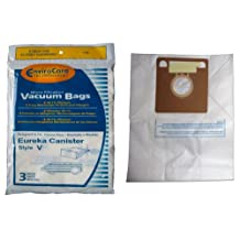 9 Eureka Allergy Style V Vacuum Bags, Power Team, Powerline, Canisters, World Vac, Home Cleaning System Vacuum Cleaners, 3800, 3900, 6700, 6800, 6865, 8000, 8200, 8900, 52358, 52358-12, 576898-12 (Filteraire), 54923-10, 6865