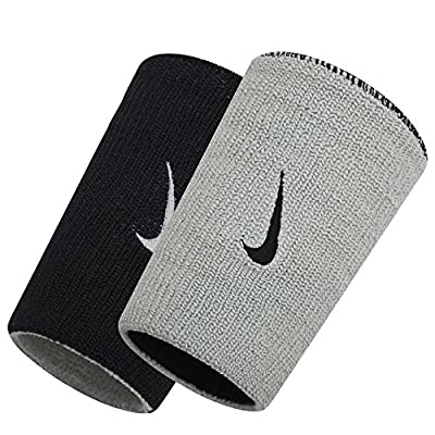 Nike Dri-FIT Home & Away Doublewide Wristbands (Black/Base Grey)