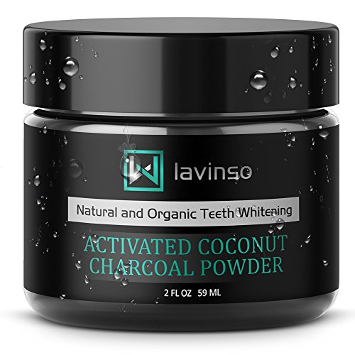 Lavinso Natural Charcoal Teeth Whitening Powder