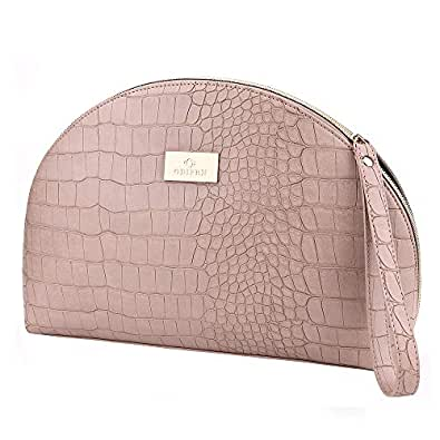 Jet Set Travel Large Flat Multifunction Phone Case Wristlet Shell Purse Handbags Clutch Bags Fashion Crocodile Pattern Grey Size: Small