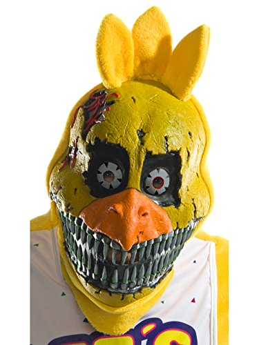 Rubie's Costume Co Men's Five Nights At Freddy's Nightmare Chica 3/4 Mask, As Shown, One Size]()
