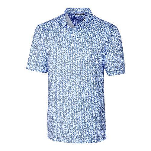 (Cutter & Buck MCK00096 Men's Pike Polo Vertical Vine Print Shirt, Chelan - XXXL)
