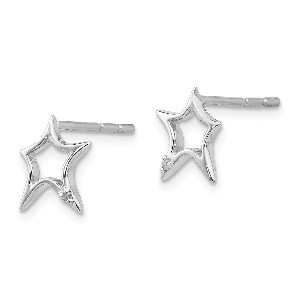 SPIRA Handcrafted Contemporary Design Two Tone Solid 9k Yellow Gold And 925 Sterling Silver Stud Earrings Fast/&Free Shipping!