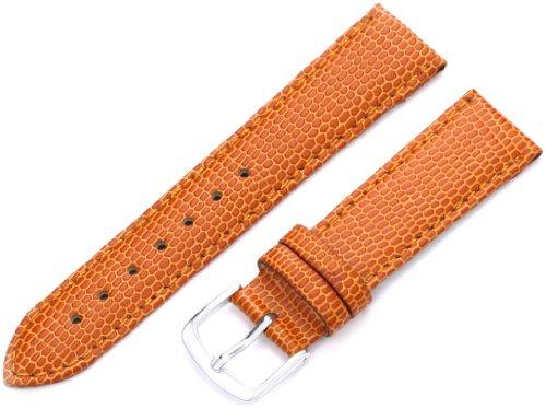 Lizard Watch Grain Strap (Hadley-Roma Women's LSL725RAG180 18-mm Orange Java Lizard Grain Watch Strap)