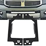 TURBOSII Lower Bumper Mount Mounting Brackets for 3X3 Inch Led Offroad Light Cube Pods Driving Fog Lamps fit 2003-2009 Dodge Ram 2500/3500 & 2002-2008 Ram 1500