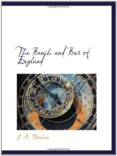 Download The Bench and Bar of England PDF