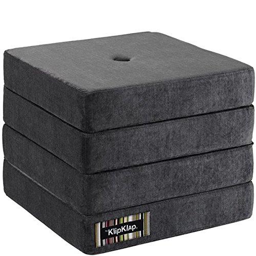 by KlipKlap 4 fold multimadras - Velvet - Antrasit Velvet with dark grey button