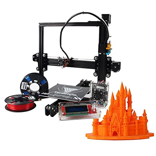 (REES52 TEVO Tarantula I3 Aluminium Extrusion 3D Printer Kit Auto and Large Bed 3D Printing With Aibecy Cleaning Cloth 2 Rolls Filament 512MB Memory Card)