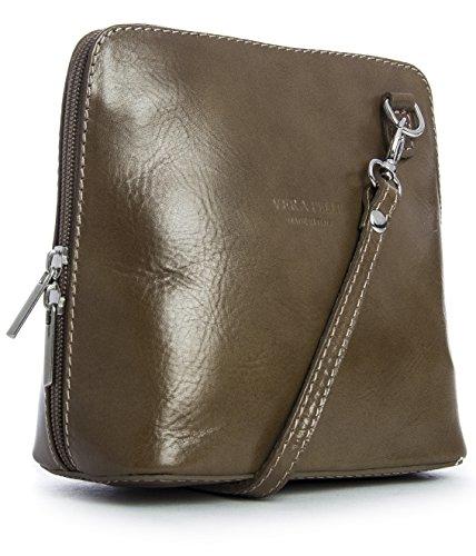 de crossbody Tierra para Pequeño bolsa de bolso hombro ABBY z con LiaTalia suave protectora piel mujer RwSUEqnx