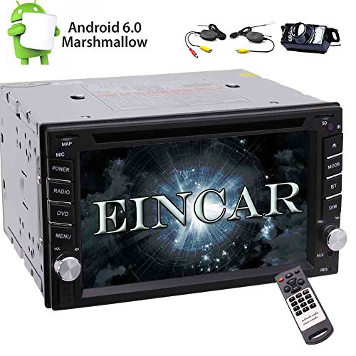 Eincar In Dash Universal For Double 2 DIN Android 6.0 Car Stereo Quad Core Autoradio GPS Navigation Car DVD Player 1080p Bluetooth SWC/Mirror Link/3G/4G/Cam-in Free Wireless Camera Included!