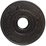 Old Dutch 008MB 5.5 Inch Round Matte Black Cast Iron Hobnail Trivet