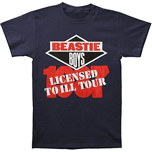 (Old Glory Beastie Boys Men's Licensed to Ill T-Shirt X-Large Navy )