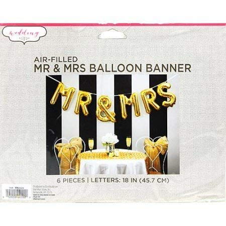 WEDDING AIR-FILLED MR & MRS BALLOON BANNER
