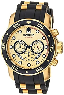 Invicta Men's 17566 Pro Diver 18k Gold Ion-Plated Stainless Steel Watch by Invicta