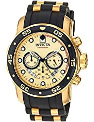 Invicta Mens 17566 Pro Diver 18k Gold Ion-Plated Stainless Steel Watch