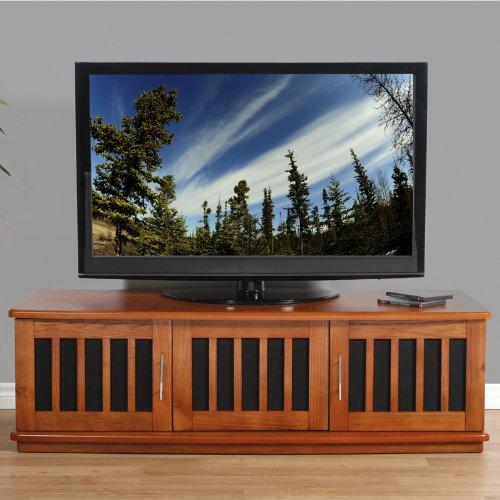 (Plateau LSX-T 62 W Wood TV Stand, 62-Inch, Walnut Finish)