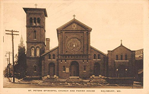 Salisbury Maryland St Peters Episcopal Church Antique Postcard - Salisbury Md Stores In