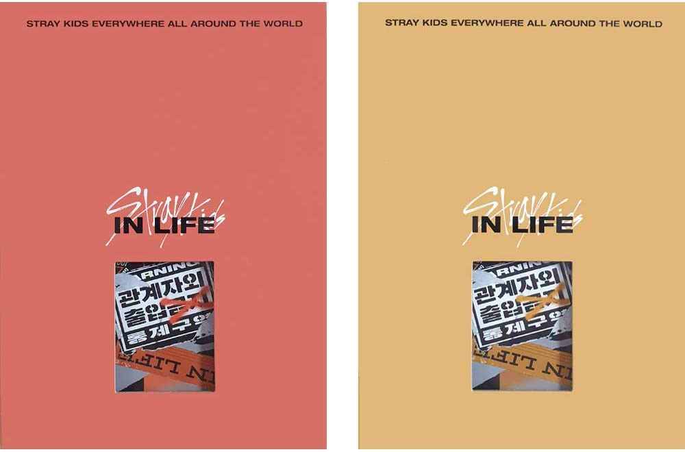 STRAY KIDS IN Life Standard Ver. IN生 Repackage Album 2 CDs+2 Photobooks+4 Photocards+2 Postcards+ A Type+B Type Set Extra 4 Photocards + 1 Double-Sided Photocard
