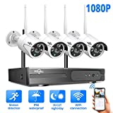 [8CH Expandable] Hiseeu Security Camera System Wireless with Audio,HD Video Security System 4Pcs...