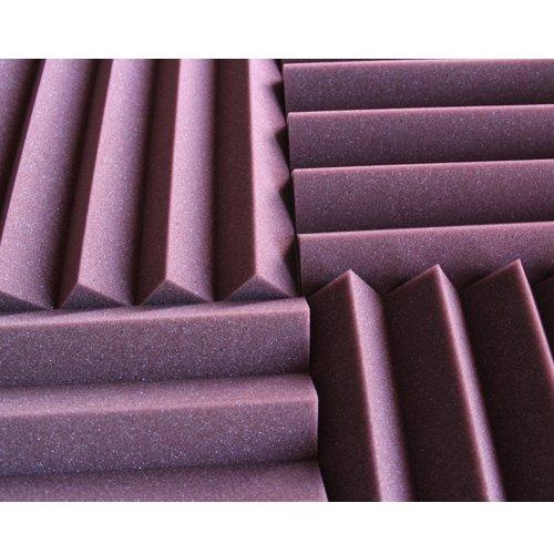 (96 Pk) 2''x12''x12'' Burgundy Soundproofing Foam Sheets Acoustic Wall Panels Tiles Studio Foam Sound Proof Padding Wedges Insulation Sound Dampening Foam Recording Studio Equipment