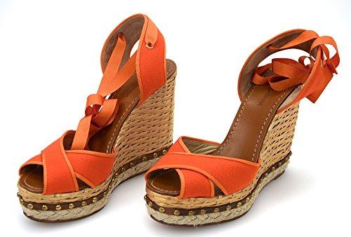 Woman Orange C13086 amp; OR Pink Gabbana Orange Dolce 41 Code Fuxia Wedge Sandal Shoes Arancione EUqwAfWP