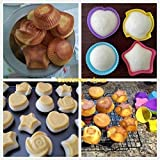 LetGoShop Silicone Cupcake Liners Reusable Baking