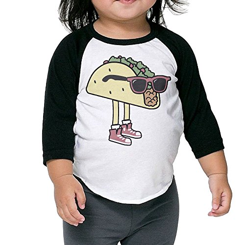 Bpbzz Kids Cool Sunglass Taco Raglan T Shirts Baseball 3/4 Sleeves Tee 4 - Museum Sunglasses