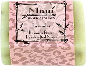 Maui Tropical Soaps Traditional Hawaiian Soap Lavender Blossom, 5-Ounce (Pack of 3)