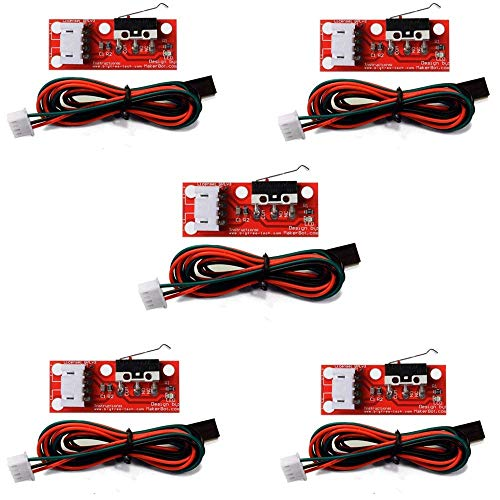 Gowoops 5 PCS of Mechanical Endstop Switch with Cable for 3D Printer Makerbot Prusa Mendel RepRap CNC Arduino Mega 2560 1280 Gowoops Parts And Accessories