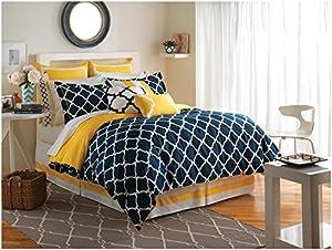 Jill Rosenwald Hampton Links Comforter Set, Full, Navy
