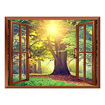 Sunrays Through Beautiful Tree Removable Wall Sticker Wall...
