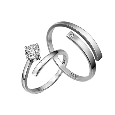 Numeis Women's 925 Sterling Silver Adjustable Rings with Easy to open RFqD0