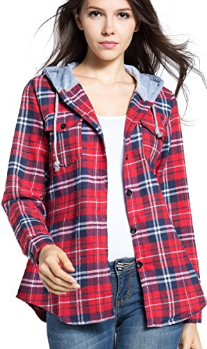 BomDeals Womens Classic Button up Flannel product image
