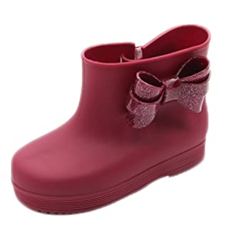 Children Bow Rian Boots,Jelly Shoes,Baby Shoes Water Shoes For Children Burgundy Kylin Express