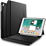 IVSO New iPad 9.7 Inch 2018/2017 Case with Keyboard - Ultra-Thin Lightweight One-Piece Wireless Keyboard Stand Case/Cover for New iPad 9.7 2018/2017/iPad Pro 9.7/iPad Air 2/iPad Air (Black)
