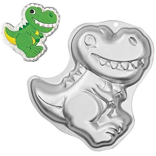 WJSYSHOP 12 Inch Dinosaur Shaped Aluminum 3D Cake Mold Baking Mould Tin Cake Pan -