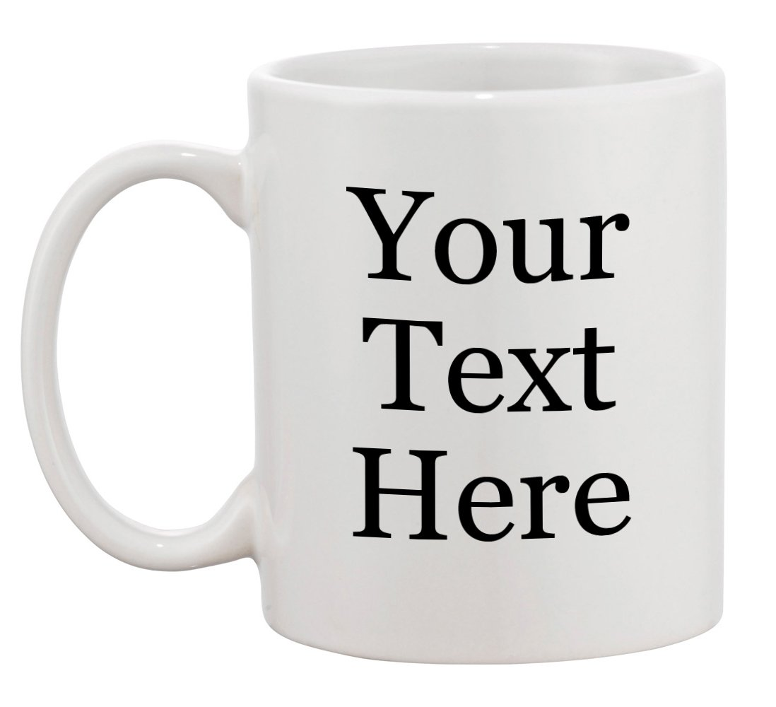 Personalized Add Your Custom Text and Photo White Ceramic 11 Oz Coffee Mug Customizable Gift by Hat Shark (Image #2)