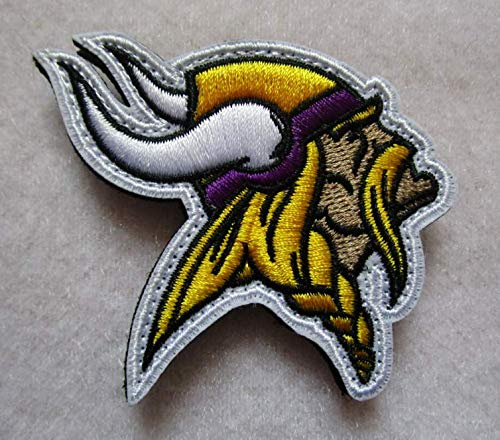 Minnesota Vikings Football Logo 3D Tactical Military Badges Embroidered Patch Back with Loops and Hook