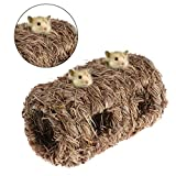 Ladaidra Hamster Nest,Natural Grass Small Pet Animal Toys Cage for Chinchilla Guinea Pigs