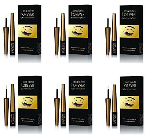 Long Lashes Forever, Eyelash Enhancing Serum, 4 ml (Pack of 6) by Oceanic