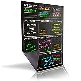 Bigtime Dry Erase Magnetic Weekly Calendar Planner , Black Flexible ...