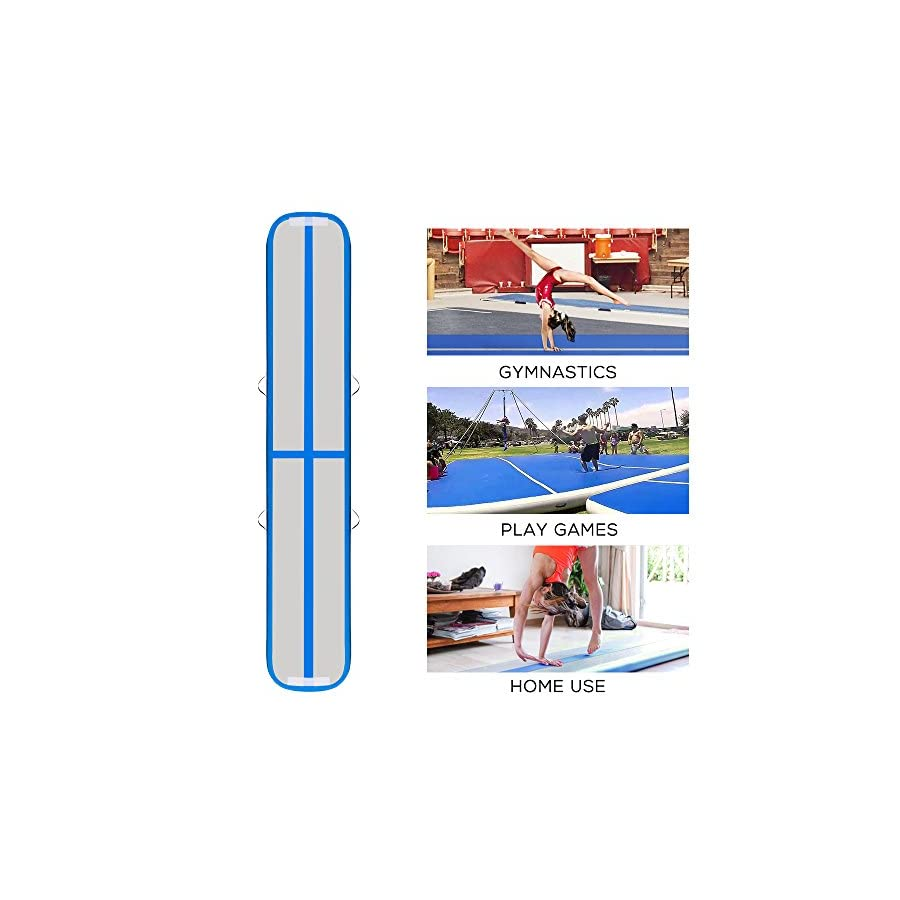Promo LINSGROUP Inflatable Gymnastic Airtrack Tumbling Mat Air Floor Yoga Mat Track for Home use Gymnastics Training/Taekwondo/Cheerleading/Yoga on Water/Beach/Park with Free Electrical Pump