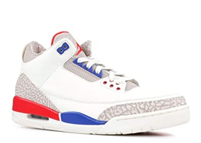 huge discount 647b7 f4105 Image Unavailable. Image not available for. Color  Jordan Nike Men s Air 3  Retro International Flight Sail Sport Royal-Light Bone 136064