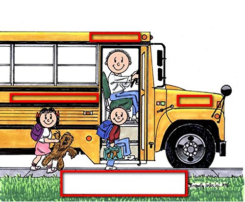 School Bus Driver - MalePersonalized Friendly Folks Mail - File Sorter