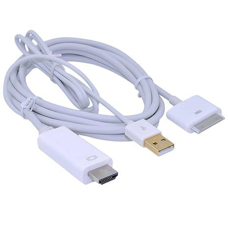 Nuwa marca blanco Dock a HDMI AV TV HDTV Cable adaptador ...