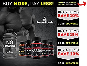 Monster Bcaa 3000 - 120 Tablets - Powerfoods - Concentrated Aminoacid For Muscle Recovery 6