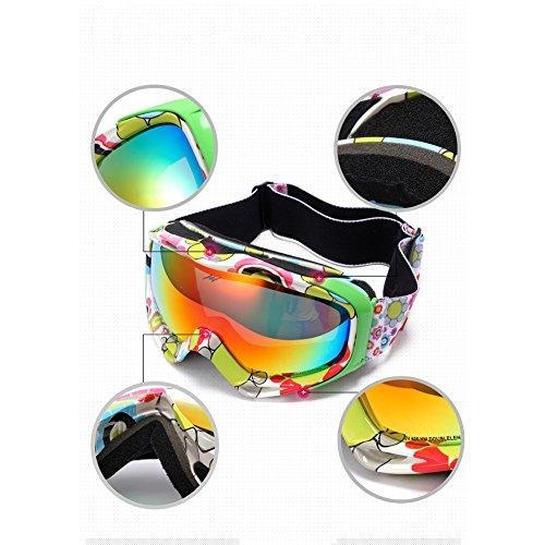 Unisexe buée SE7VEN Lentille C Compatible Polarisée Lumière De Lunettes Ski Myopie Snowboard Extérieur Double Anti Couche Goggle Lunettes pxWpnPqH