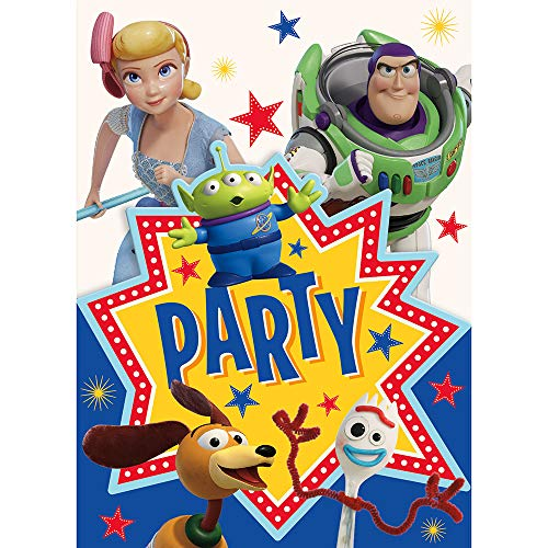 Unique Industries Disney Toy Story 4 Movie Invitations (8 Per Package)